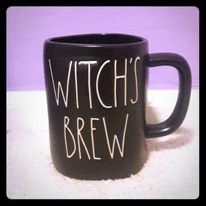 Rae Dunn black WITCH'S BREW mug.